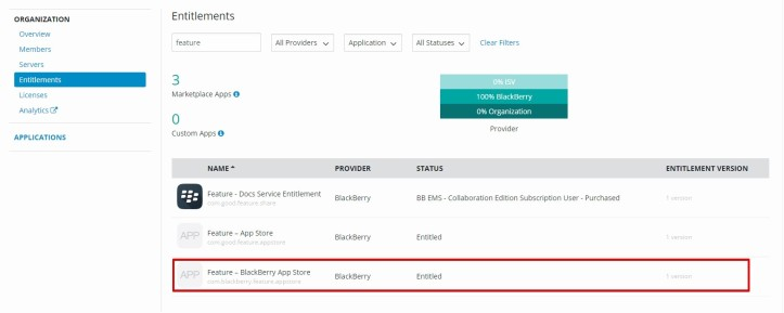 Publish app shortcut on device enrolled with Blackberry UEM