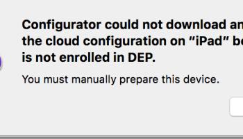 Apple Device Enrollment Program (DEP) for VMware Workspace