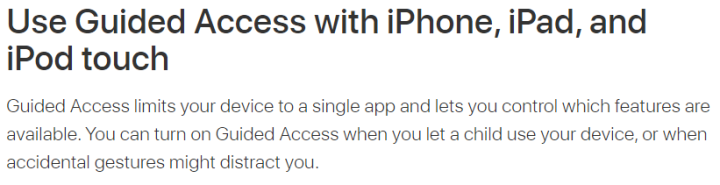 Use Guided Access with iPhone, iPad, and iPod touc