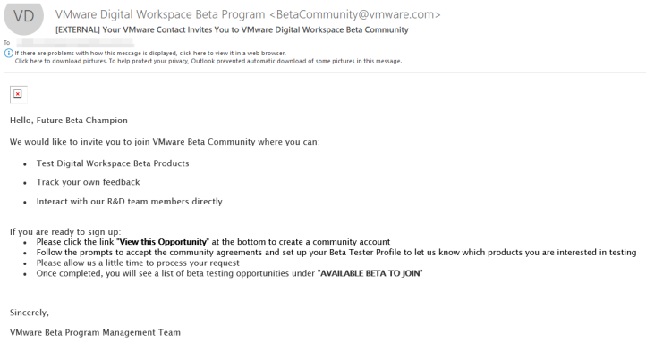 RE_ FW_ [EXTERNAL] Interested in VMware EUC Beta P
