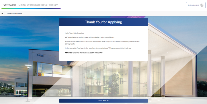Thank You for Applying - Google Chrome 2020-05-12