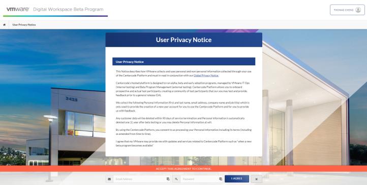 User Privacy Notice - Google Chrome 2020-05-12 15.