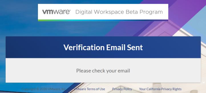 Verification Email Sent - Google Chrome 2020-05-12