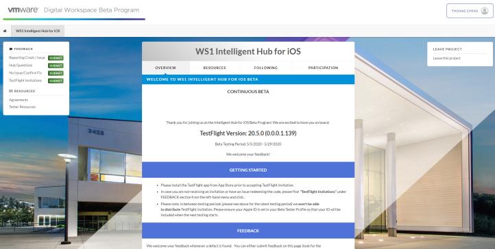 WS1 Intelligent Hub for iOS - WS1 Intelligent Hub