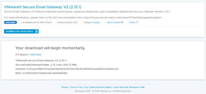1VMware® Secure Email Gateway V2 (2.15.1) - Google