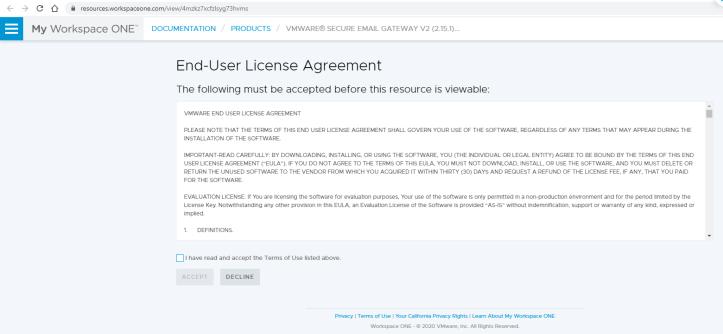 VMware® Secure Email Gateway V2 (2.15.1) - Google