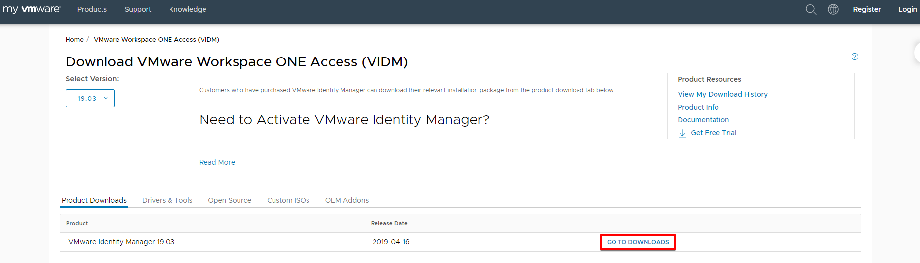 Download VMware Identity Manager - My VMware - Goo